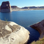 Lone Rock Beach Glen Canyon National Recreation Area Utah www.OnBorrowedLand.com
