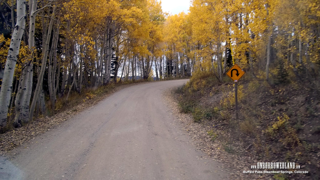 """The road in is steep and rutted and only passable in good weather. This is a """"nice"""" section of the road."""
