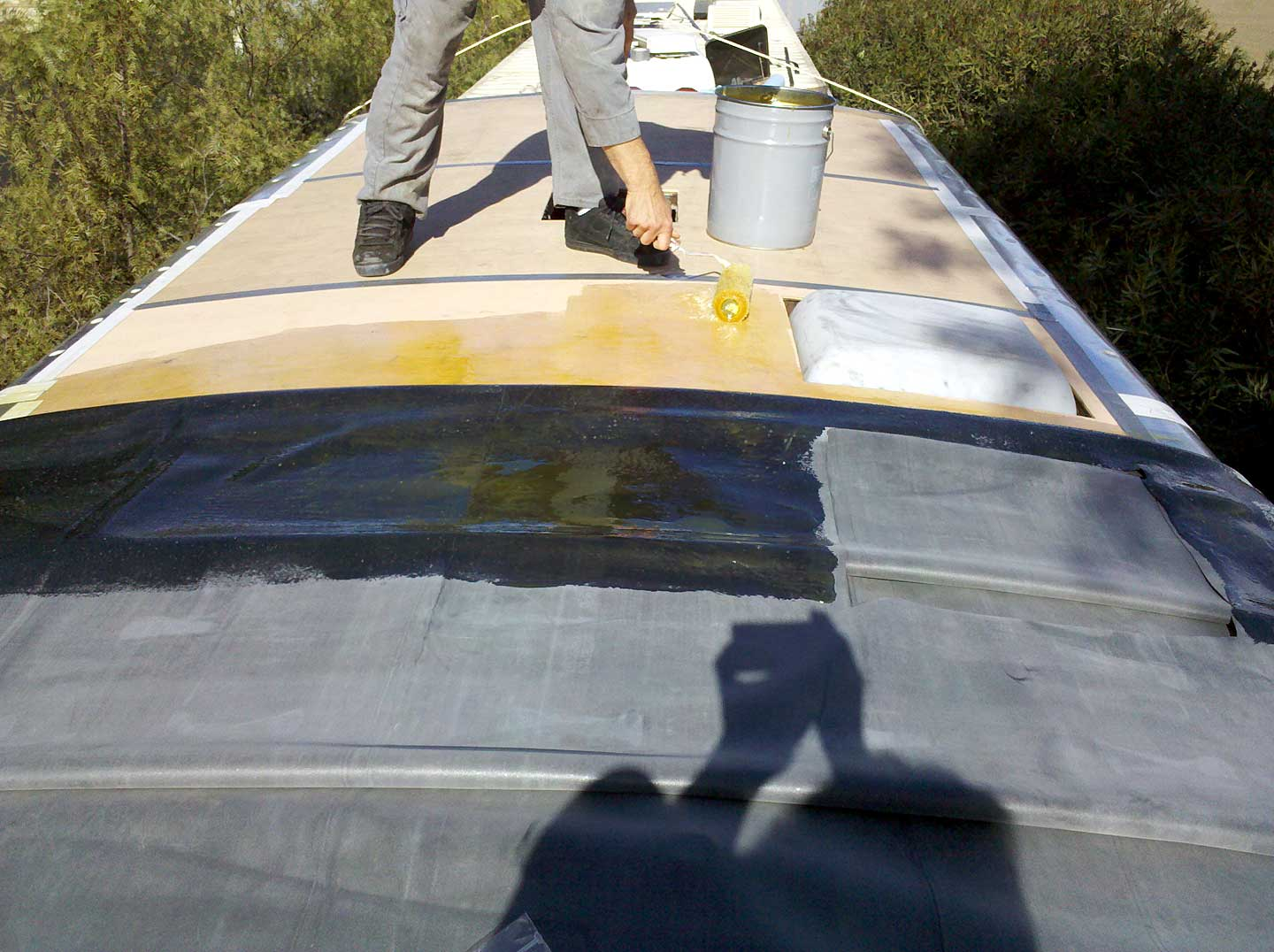 Replacing The Rv Roof On Borrowed Land