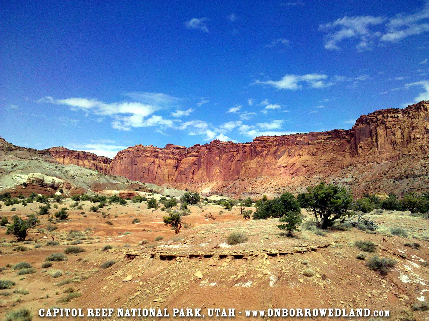 Capitol Reef National Park Utah On Borrowed Land